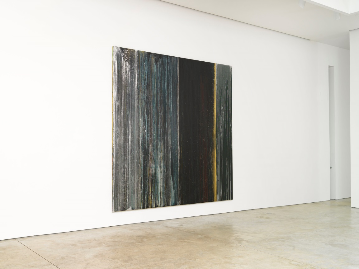 Installation View of Black, Blue, Silver and Gold