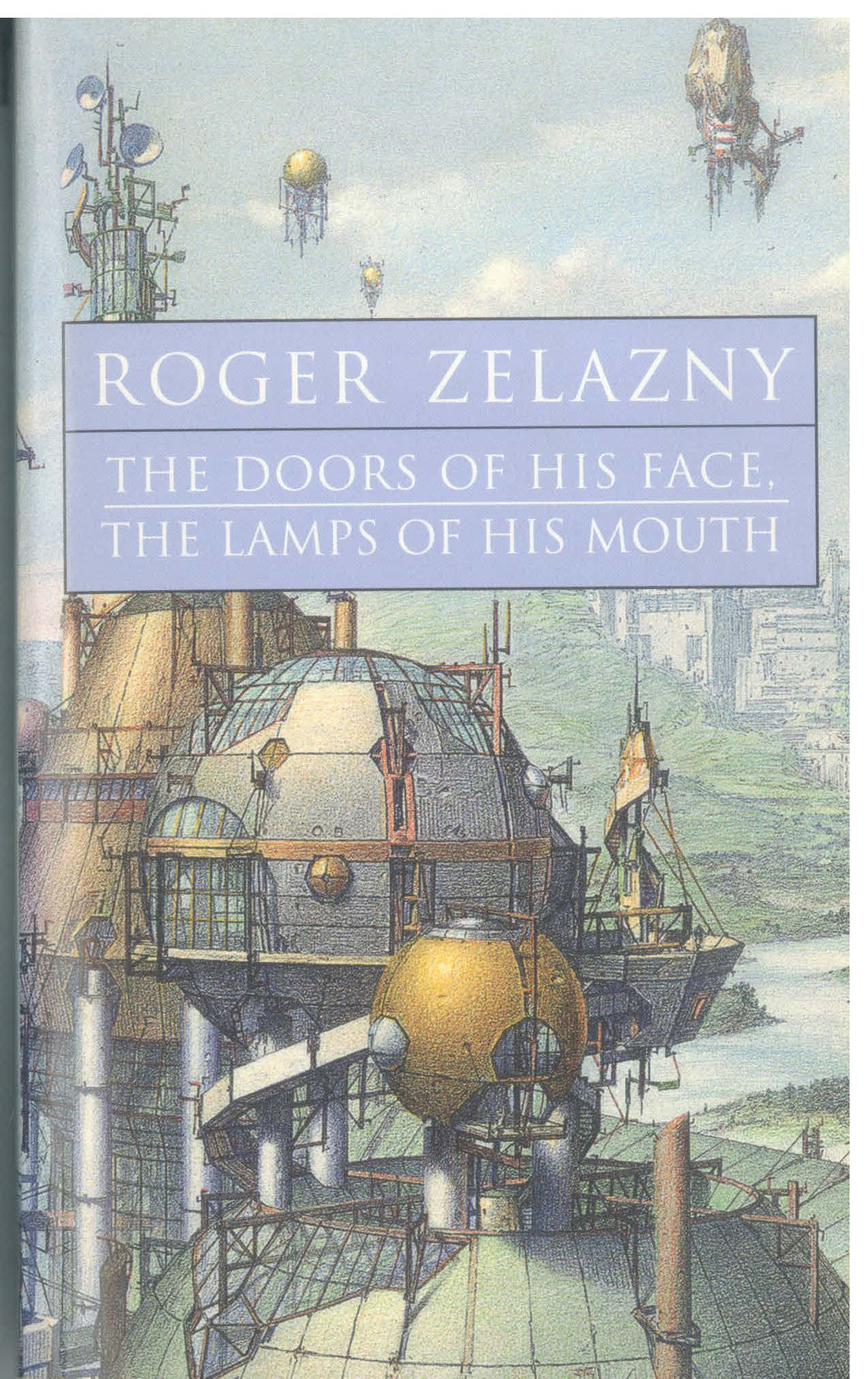 Lebbeus Woods. The New City. 1992.  Cover page for Roger Zelazny. The Door of His Face, The Lamps of His Mouth. New York: ibooks, 2001. (c) Estate of Lebbeus Woods