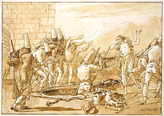 Giovanni Domenico Tiepolo  Late 18th–early 19th century Pen and brown ink, brown wash, over black chalk 13 3/4 x 18 5/16 in. (35 x 46.5 cm) The Metropolitan Museum of Art, Robert Lehman Collection