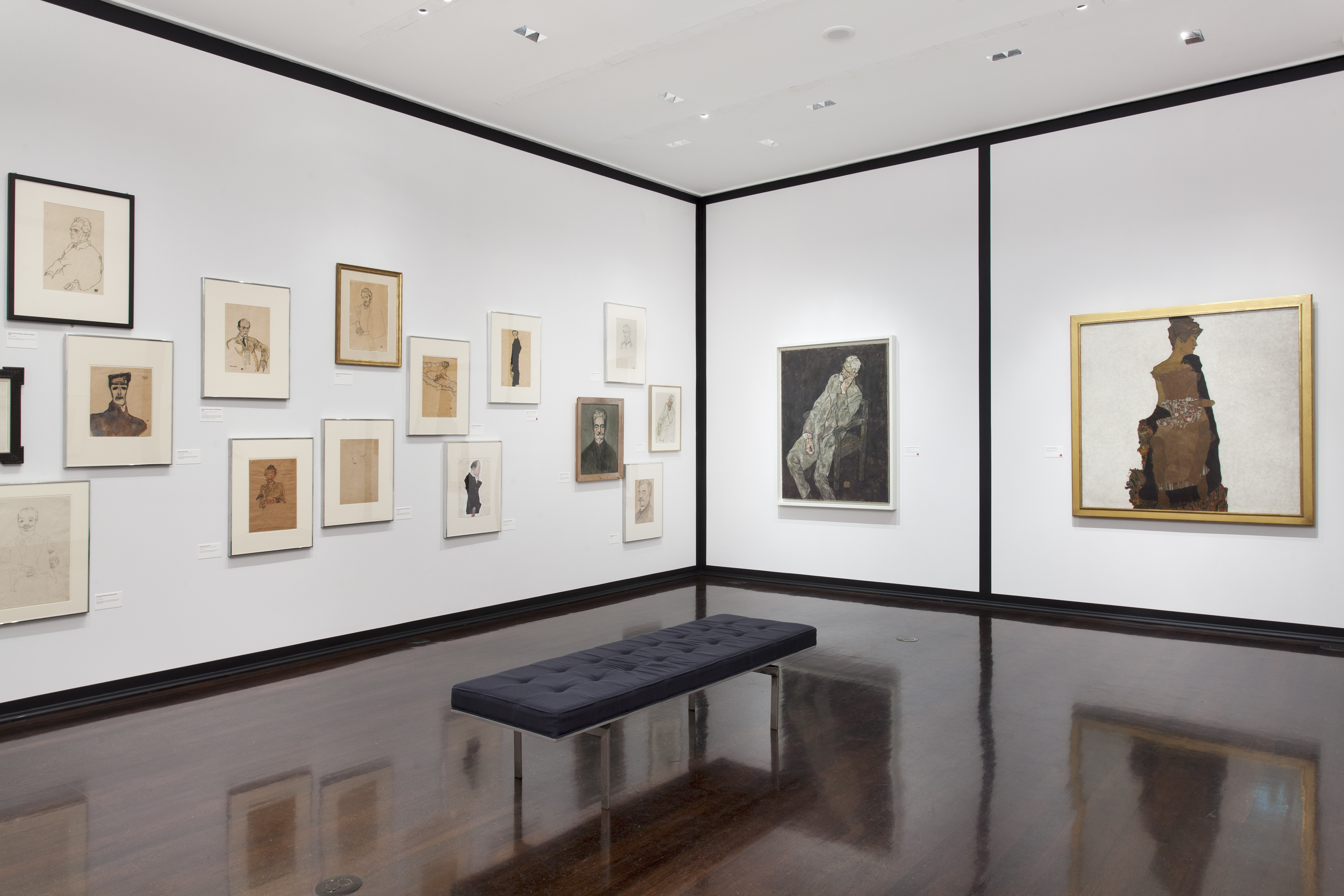 Installation view of Egon Schiele: Portraits, Neue Galerie, New York, NY (October 9, 2014 - April 20, 2015).