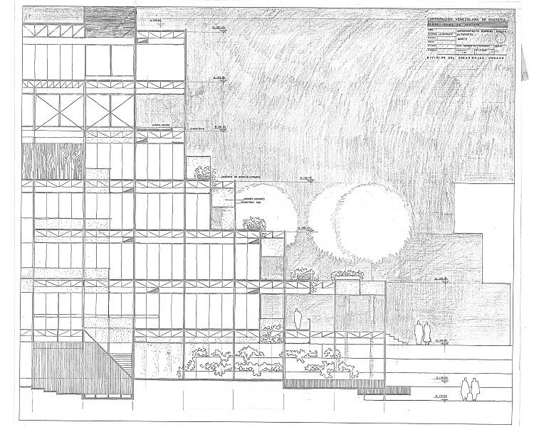 Jesús Tenreiro-Degwitz. Venezuelan Corporation of Guayana (Corporación Venezolana de Guayana) (CVG). 1966. Blueprint. Image courtesy of Museum of Modern Art.