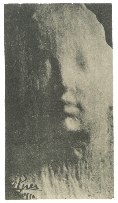 Medardo Rosso, Ecce puer (Behold the Child), c. 1911-14. Vintage photograph, 4 7/8 x 2 11/16 in (12.5 x 6.9 cm). Private collection. Image courtesy of the Center for Modern Italian Art.