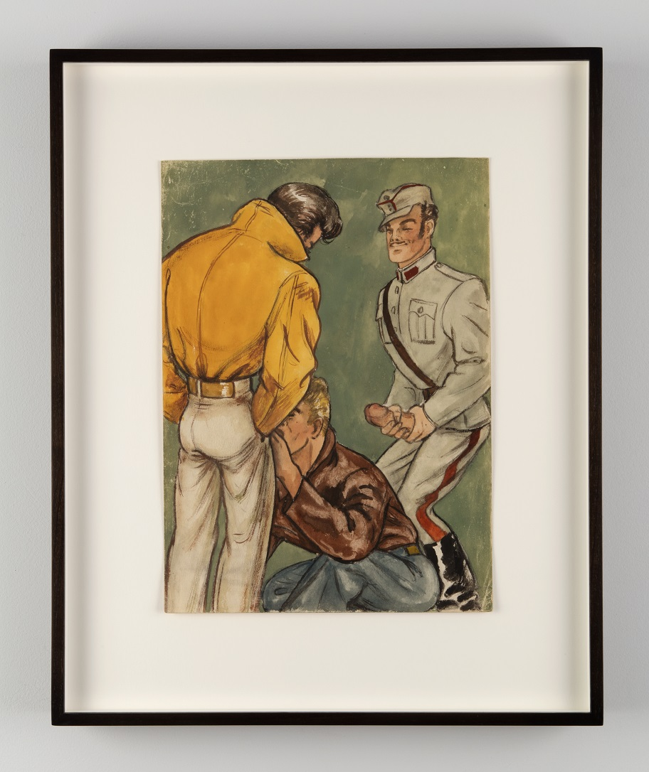 Tom of Finland, Untitled, 1946. Gouache on paper. Tom of Finland Foundation, Permanent Collection. Photo courtesy of Jean Vong.