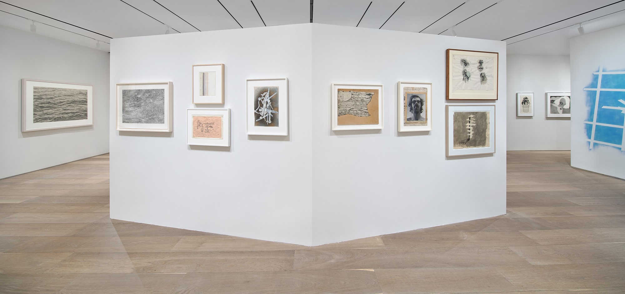 Installation view of Drawing Then: Innovation and Influence in American Drawings of the Sixties, curated by Kate Ganz, at Dominique Lévy Gallery, New York (January 27 - March 19, 2016). Courtesy: Dominique Lévy Gallery, New York/London/Geneva
