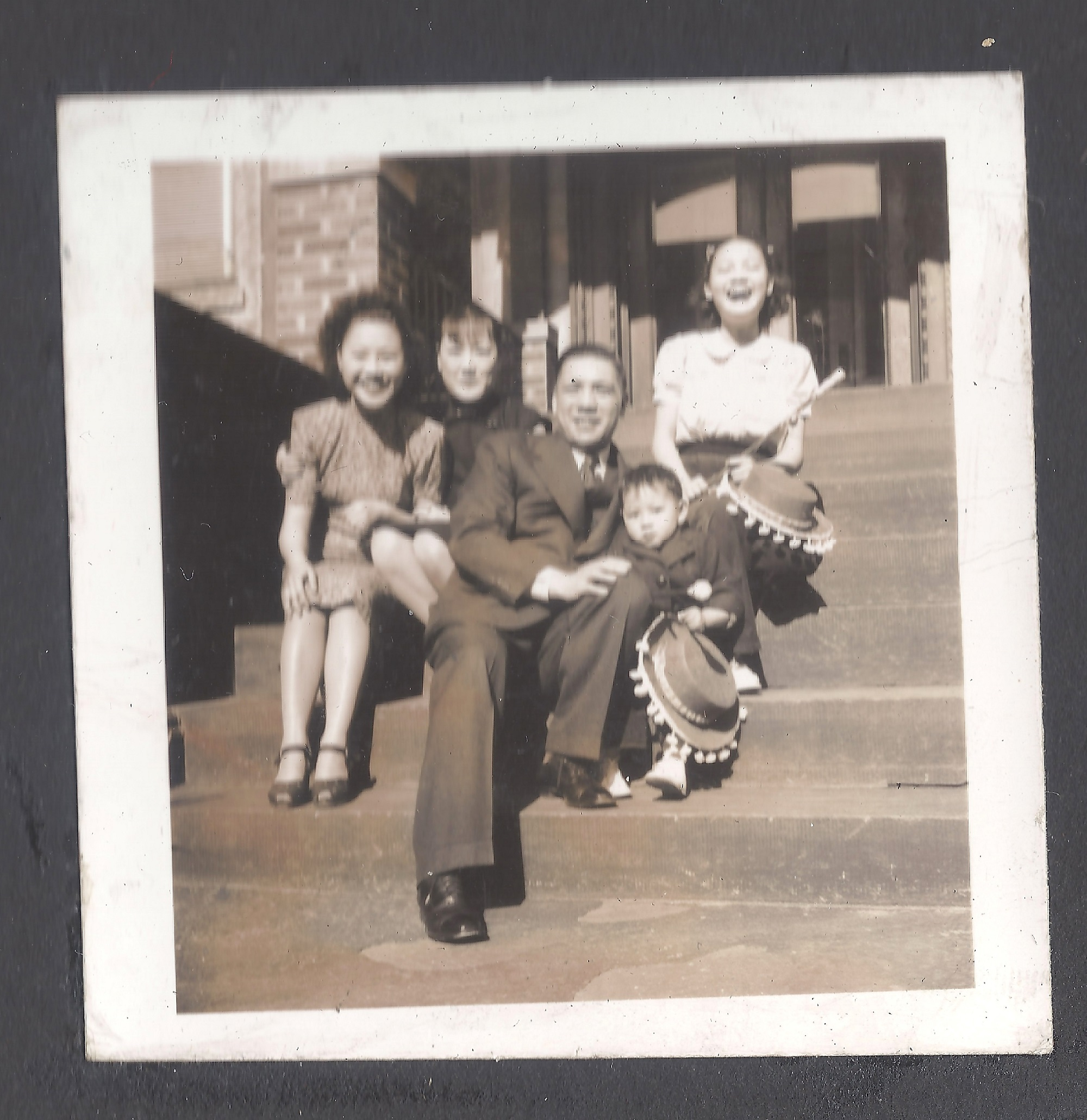 The Lees in Brooklyn, 1946, Photograph, Courtesy of the Poy Gum Lee Archive