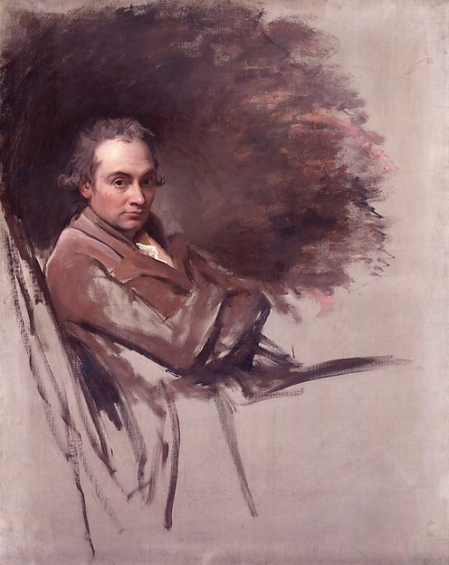 """George Romney, """"George Romney,"""" 1784. Oil on canvas, 51 3/8 x 41 inches. Collection of the National Portrait Gallery, London; purchased 1894. © National Portrait Gallery, London / Art Resource, NY."""