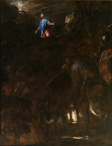 """Titian (Tiziano Vecellio), """"The Agony in the Garden,"""" 1558–62. Oil on canvas, 69 1/2 x 53 1/2 inches. Collection of Museo Nacional del Prado, Madrid © Museo Nacional del Prado, Madrid."""