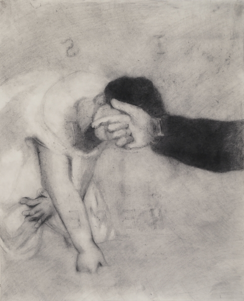 "Dana Lok, ""Rubbing, Lunch,"" 2014. Graphite on paper, 31 x 24 inches. Courtesy of the artist."