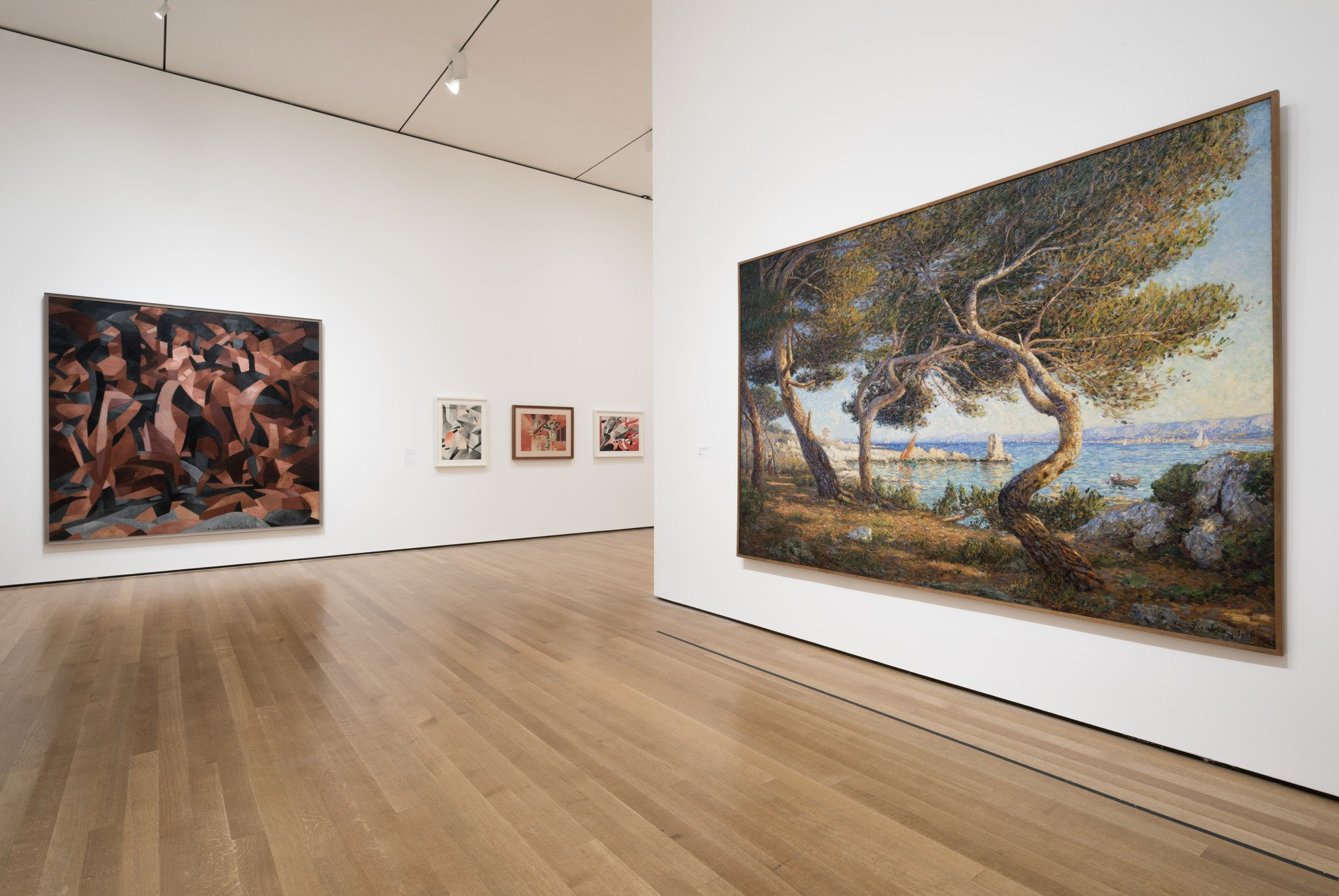 Installation view of Francis Picabia: Our Heads Are Round so Our Thoughts Can Change Direction. The Museum of Modern Art, New York.