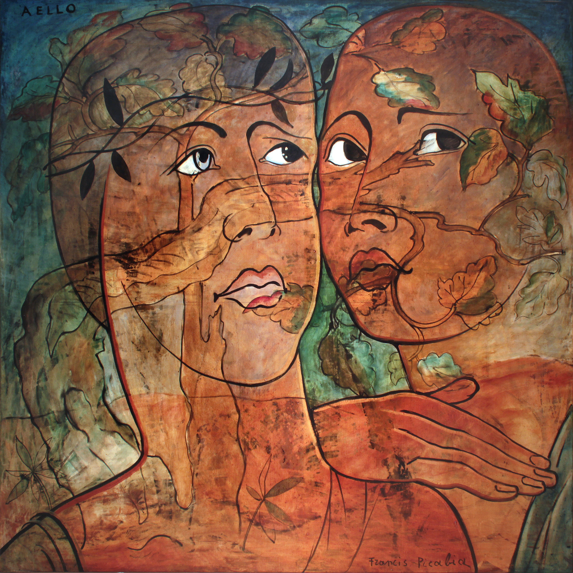 Francis Picabia. Aello. 1930. Oil on canvas, 66 9/16 × 66 9/16″ (169 × 169 cm). Private collection. © 2016 Artist Rights Society (ARS), New York/ADAGP, Paris