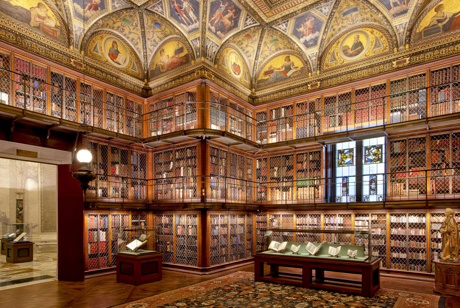 Pierpont Morgan's Library. The Morgan Library & Museum. Photography by Graham Haber. Image courtesy of The Morgan Library & Museum.