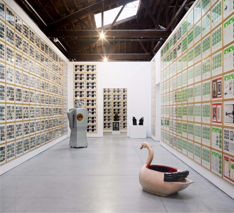 Hanne Darboven, Installation view of Kulturgeschichte 1880–1983 , 1980–1983. Dia:Chelsea, New York.  Hanne Darboven Foundation, Hamburg/Artists Rights Society (ARS), New York. Photograph  by Bill Jacobson Studio, New York.