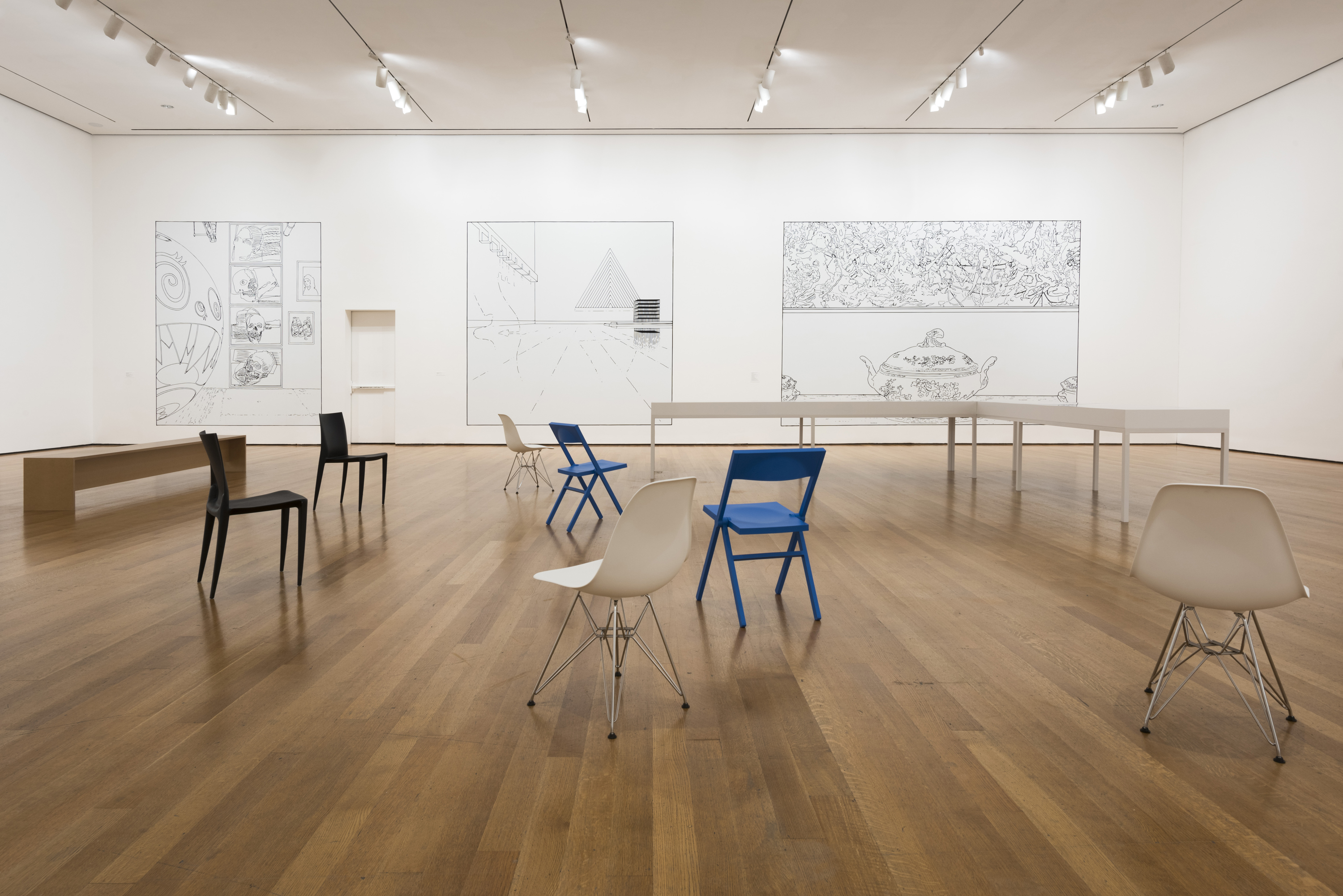 Installation view ofLouise Lawler: WHY PICTURES NOW.The Museum of Modern Art, New York, April 30-July 30, 2017. © 2017 The Museum of Modern Art. Photo: Martin Seck.