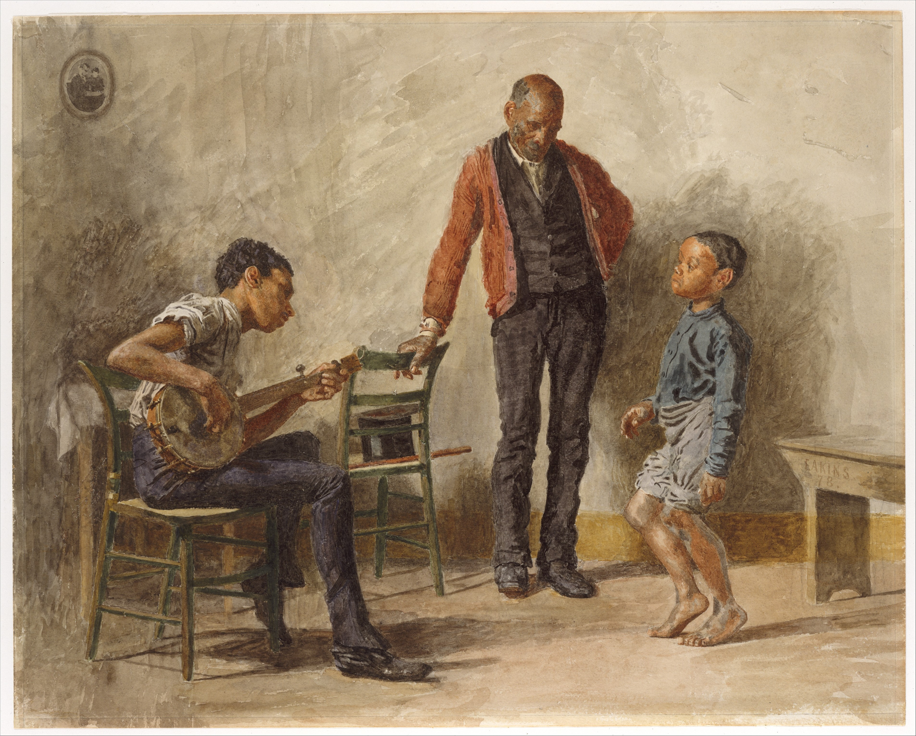 Eakins_1.jpg Thomas Eakins, The Dancing Lesson, 1878. Watercolor on off-white wove paper, 18 1/8 x 22 7/8 inches. Collection of the Metropolitan Museum of Art, New York; Fletcher Fund, 1925, 25.97.1.