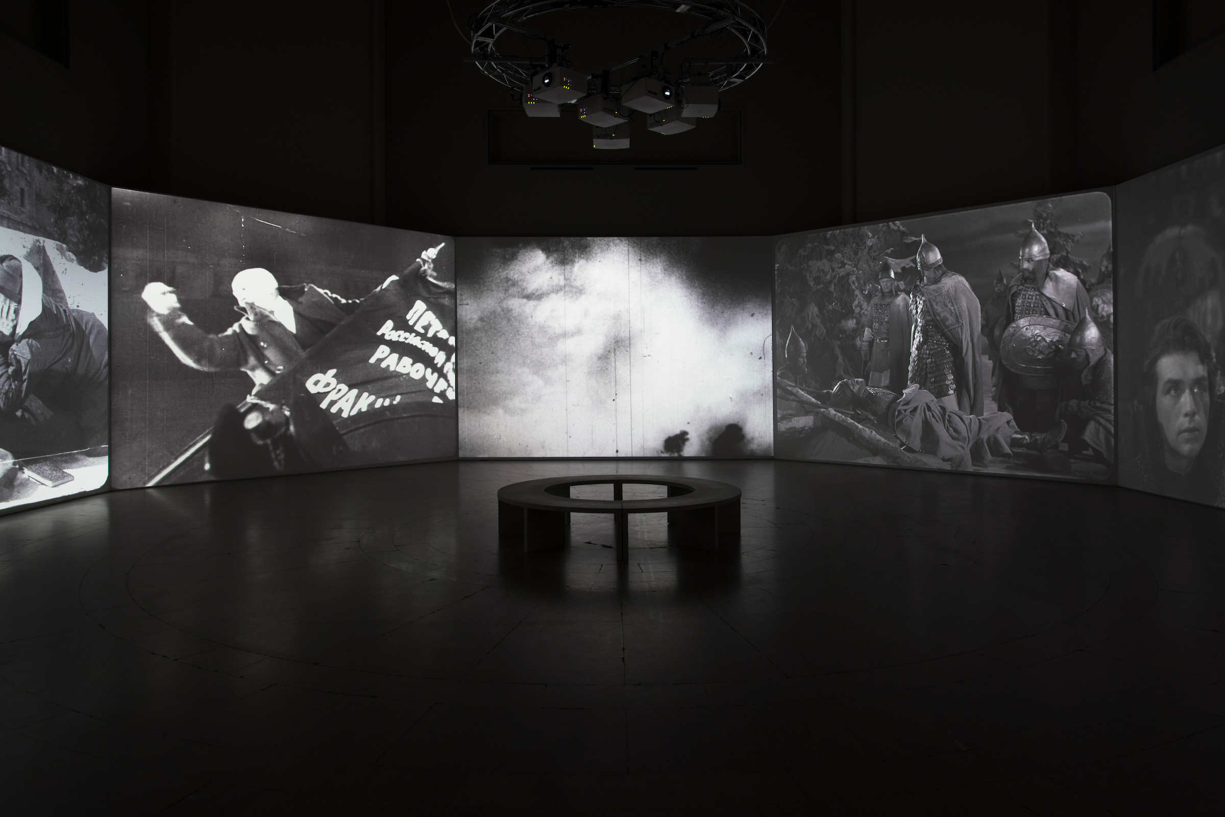 Proof: Francisco Goya, Sergei Eisenstein, Robert Longo Installation Image. Photo by Jonathan Dorado