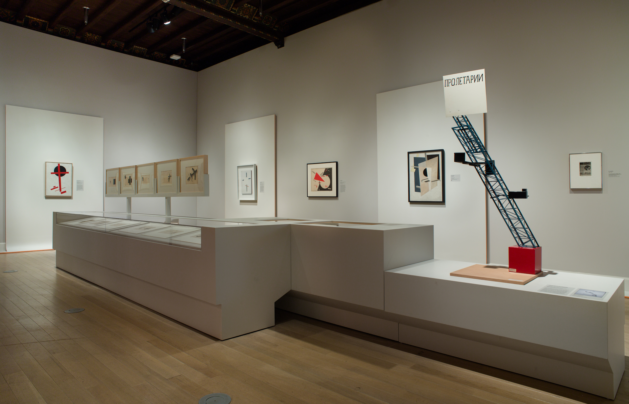 Installation view of the exhibition Chagall, Lissitzky, Malevich: The Russian Avant-Garde in Vitebsk, 1918-1922, September 14, 2018 – January 6, 2019, The Jewish Museum, NY. Photo by: Jason Mandella